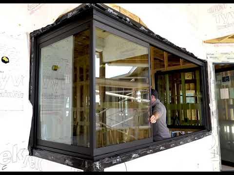 Glass Expanse: Window panel wraps around 90 degree corner!!