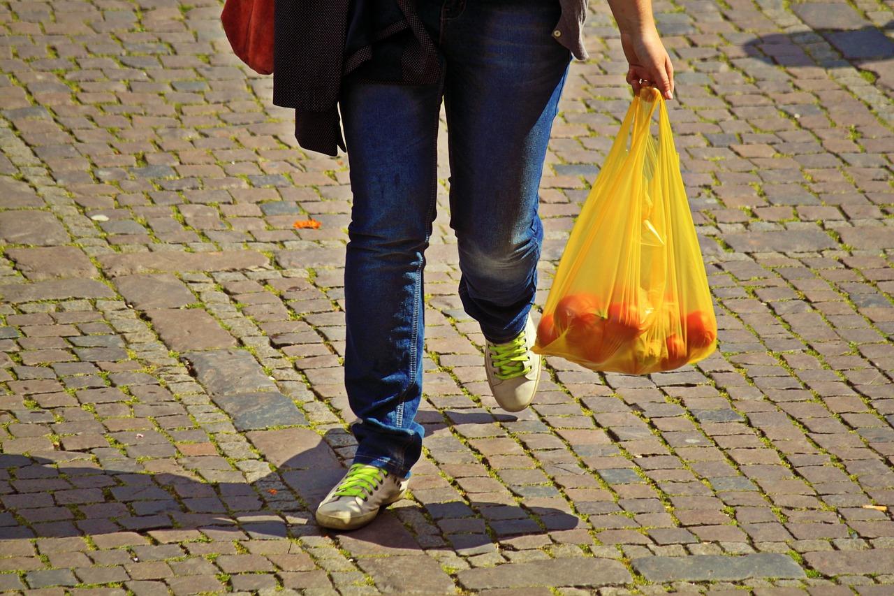 plastična vrečka in nakupovanje
