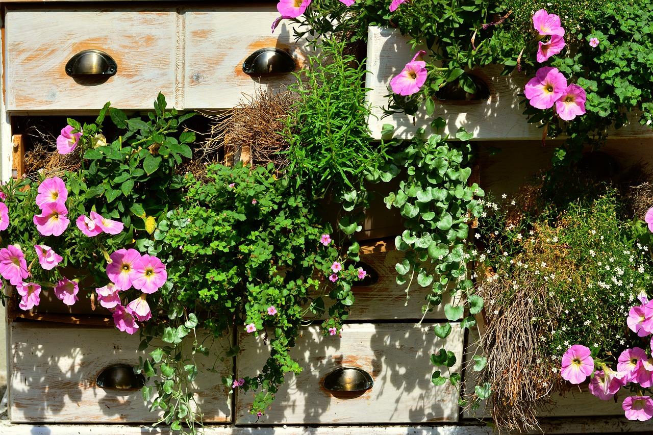 vetrikalni cvetlični vrt