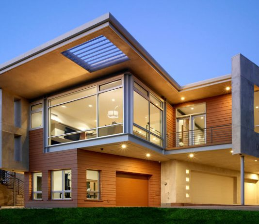 Jeklena hiša je lahko moderno zasnovana