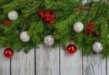 Veje božičnega drevesa z okraski