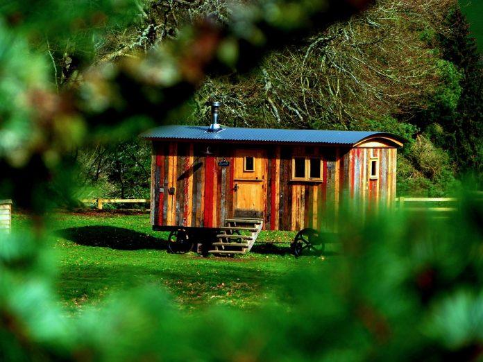 Majhna hiška v gozdu