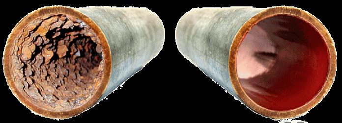 Sanacija vodovoda: prej in potem