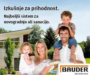 Bauder najboljši sistemi za novogradnjo ali sanacijo