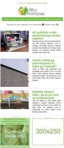 Oglasne kapacitete newsletter MojPrihranek