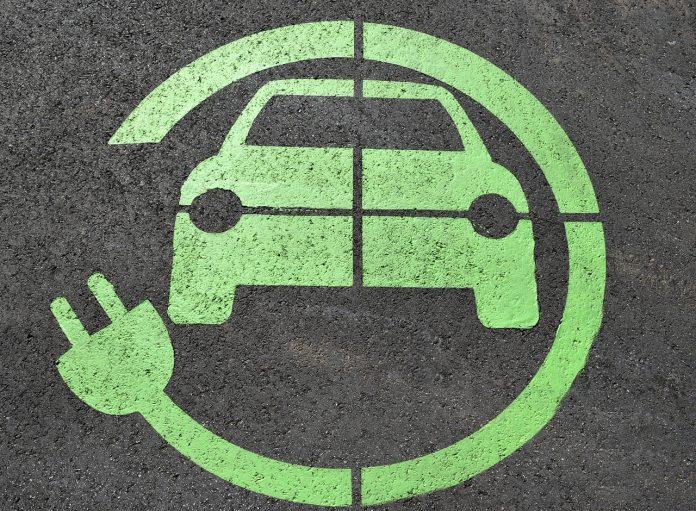 simbol električnega vozila