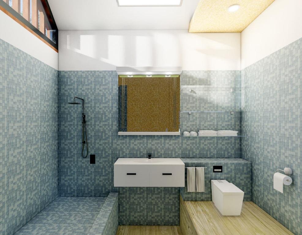 Kopalnica v majhni hišici