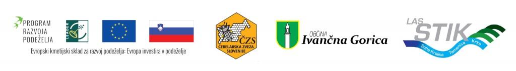 Logotipi Program razvoja podeželja, EU, ČZS, Občina Ivančna Gorica, LAS Stik