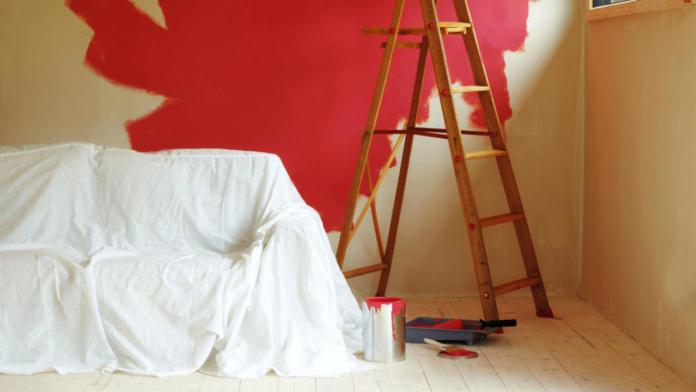 Pripravljanje sobe na barvanje