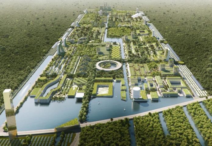 V mestu bi prebivalo 130.000 prebivalcev (Vir: Inhabitat)