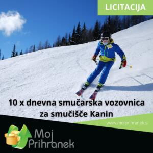 10 x dnevna smučarska vozovnica za smučišče Kanin – izklicna cena 1 €!