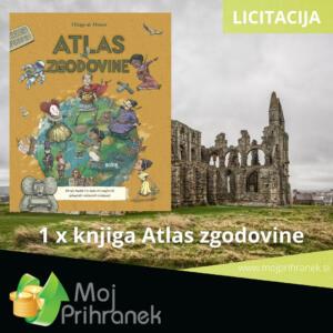 1 x knjiga Atlas zgodovine