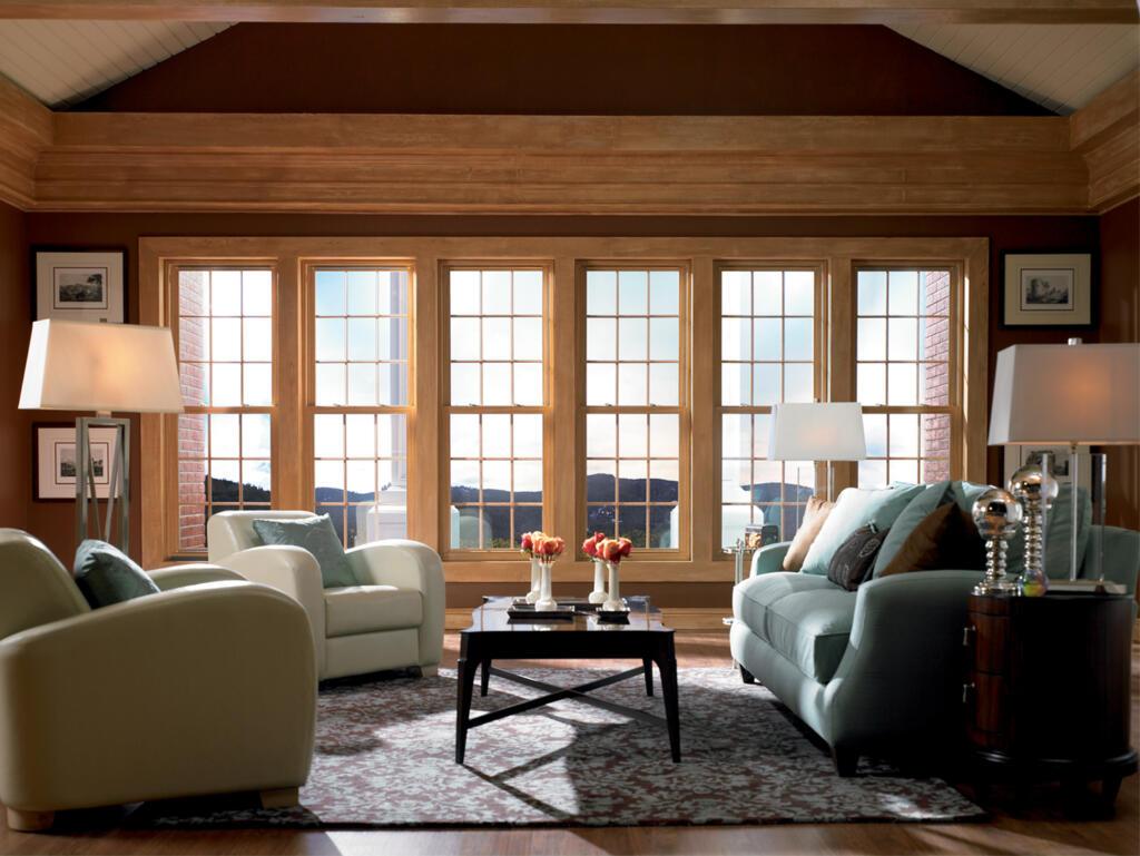 Panoramska lesena okna