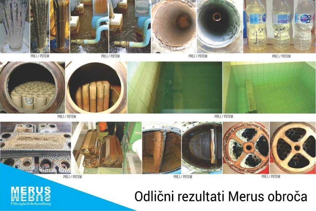 Primeri delovanja Merus obroča, prej in potem