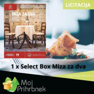 1 x Select Box Miza za dva