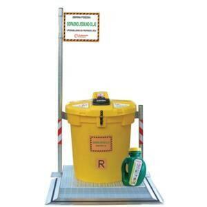 Poseben rumen zabojnik za zbiranje odpadnega jedilnega olja
