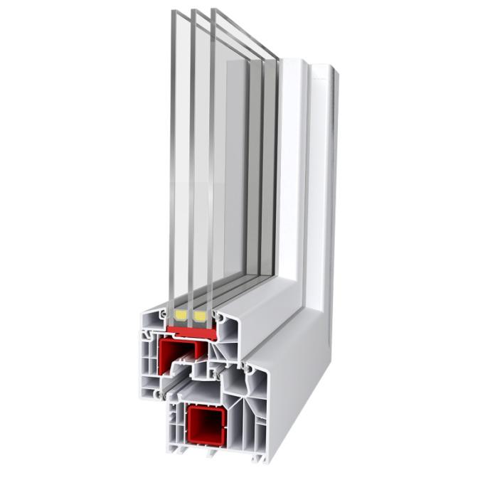 Prikaz različnih slojev PVC oken