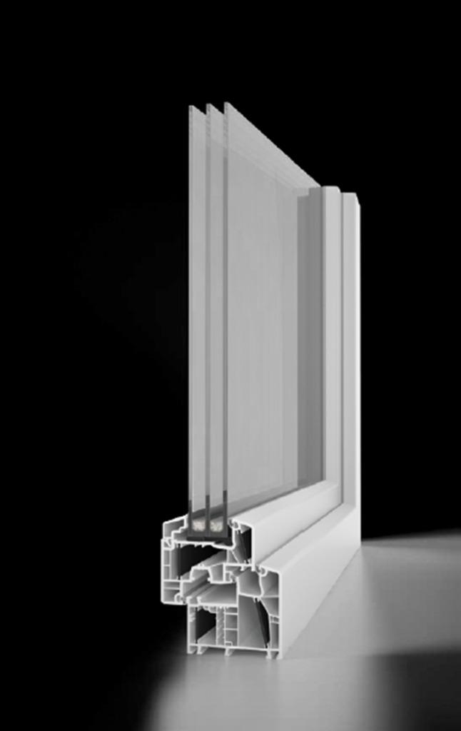 Prerez PVC okna