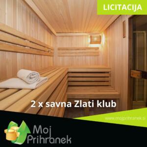 2 x savna Zlati klub
