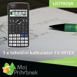 1 x tehnični kalkulator FX-991EX