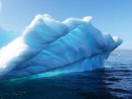 Kos ledu v morju