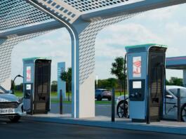 Najhitrejši polnilnik za električne avtomobile na svetu, imenovan Terra 360, ki ga je predstavil tehnološki velikan ABB (vir: ABB global)
