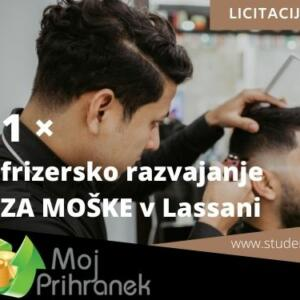 1 x frizersko razvajanje za moške v Lassani