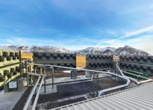 Obrat deluje na energijo iz bližnje geotermalne elektrarne (vir: climeworks.com)