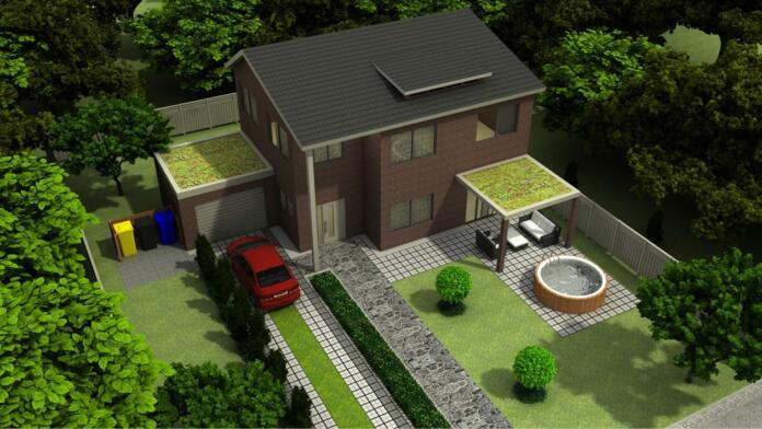 Slika hiše z okolico