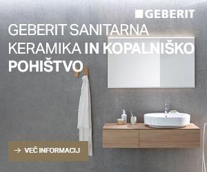 Geberit sanitarna keramika in kopalniško pohištvo