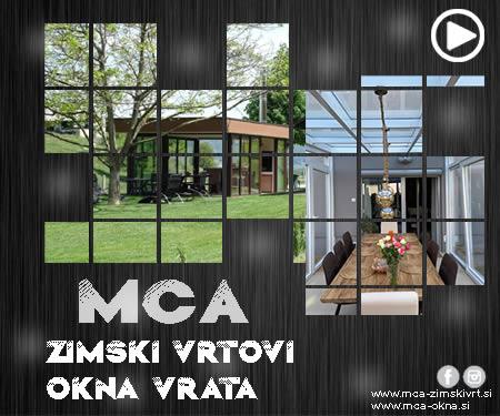 MCA zimski vrtovi, okna, vrata