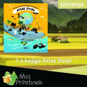 1 x knjiga Atlas živali